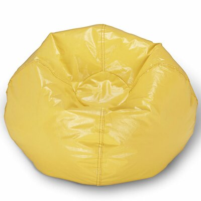 Kierra Bean Bag Chair Color: Yellow Shiny