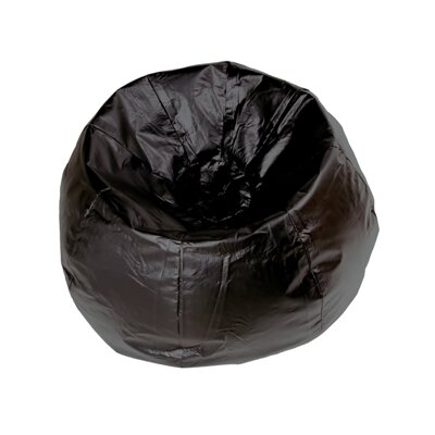 Kierra Bean Bag Chair Color: Black Shiny