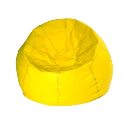 Kierra Bean Bag Chair Color: Yellow Matte