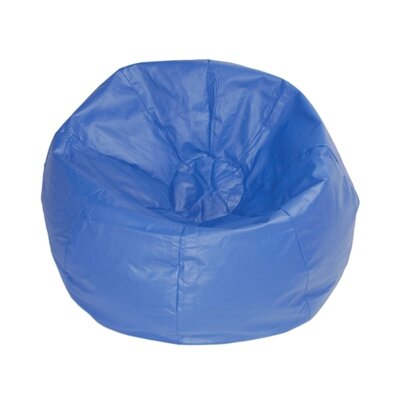 Kierra Bean Bag Chair Color: Blue Matte