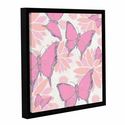Butterflies and Blossoms I Framed Graphic Art Size: 18