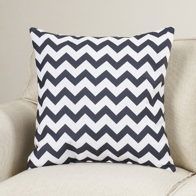Milo Decorative Throw Pillow Size: 16 H x 16 W, Color: Black