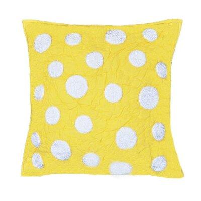 Iman Cotton Throw Pillow Color: Yellow