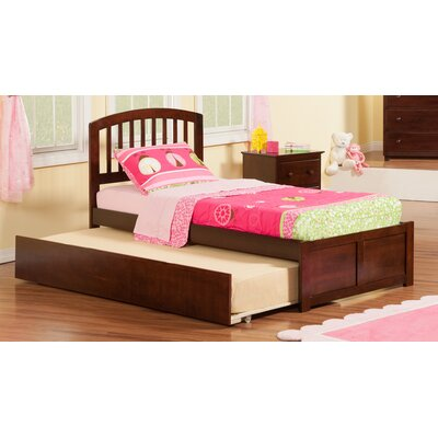Greyson Platform Bed with Trundle Size: Twin, Finish: Caramel Latte