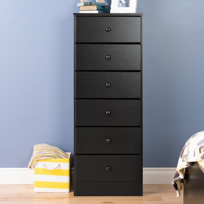 Libby 6 Drawer Lingerie Chest Finish: Black
