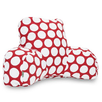 Telly Reg Cotton Bed Rest Pillow Color: Hot Red