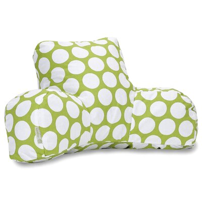 Telly Reg Cotton Bed Rest Pillow Color: Hot Green