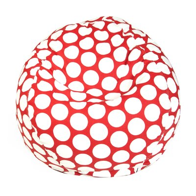 Telly Polka Dot Bean Bag Chair Upholstery: Red Hot Large