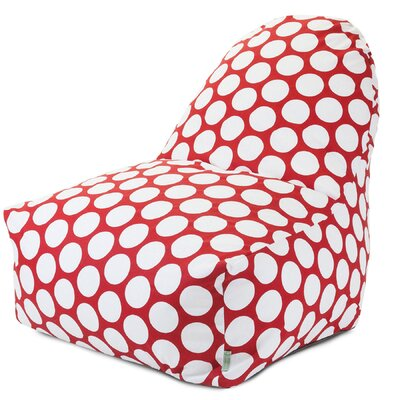 Telly Bean Bag Lounger Upholstery: Red Hot