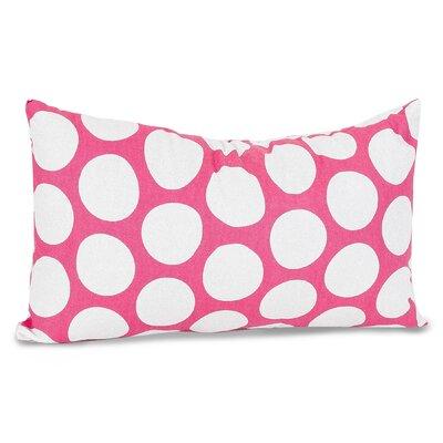 Telly Reg Large Cotton Lumbar Pillow Color: Hot Pink