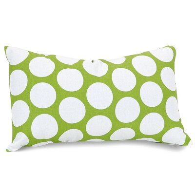 Telly Reg Large Cotton Lumbar Pillow Color: Hot Green