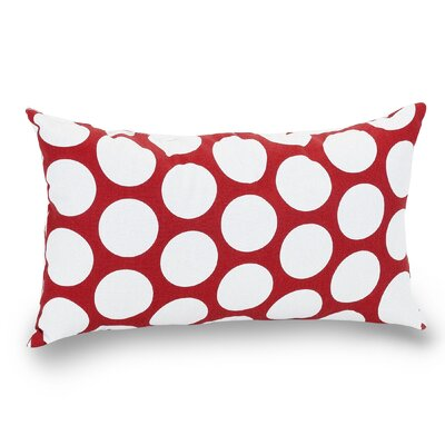 Telly Reg Large Cotton Lumbar Pillow Color: Red Hot