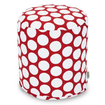 Telly Reg Small Pouf Upholstery: Red Hot
