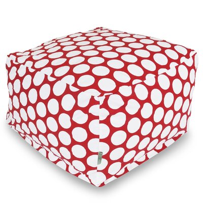 Telly Reg Pouf Upholstery: Red Hot