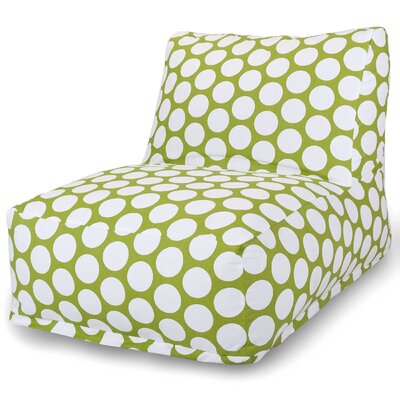 Telly Polka Dot Bean Bag Lounger Upholstery: Hot Green