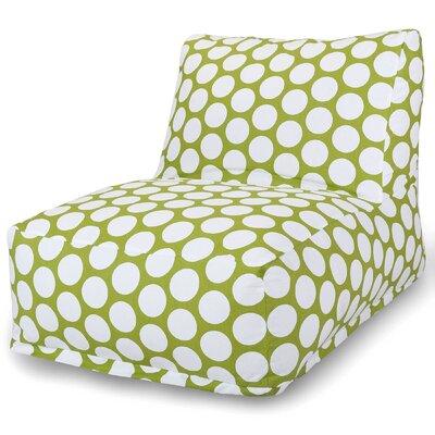 Telly Polka Dot Bean Bag Lounger Upholstery: Hot Green