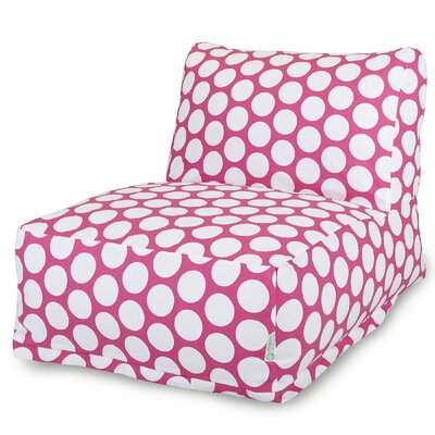 Telly Polka Dot Bean Bag Lounger Upholstery: Hot Pink