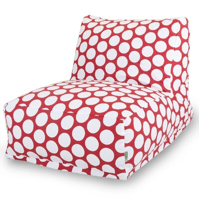 Telly Polka Dot Bean Bag Lounger Upholstery: Hot Red