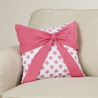 Reb Pink/White Throw Pillow