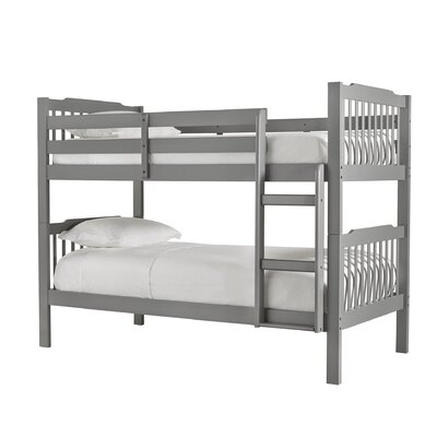 Theodore Twin Bunk Bed Finish: Frost Gray