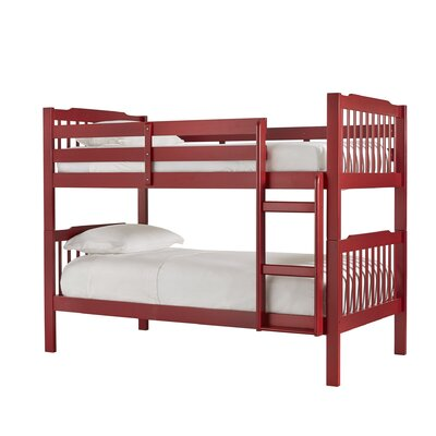 Theodore Twin Bunk Bed Color: Samba Red