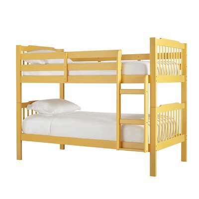 Theodore Twin Bunk Bed Color: Yellow