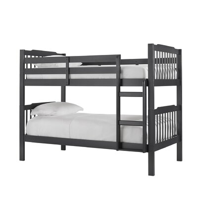 Theodore Twin Bunk Bed Color: Vulcan Black