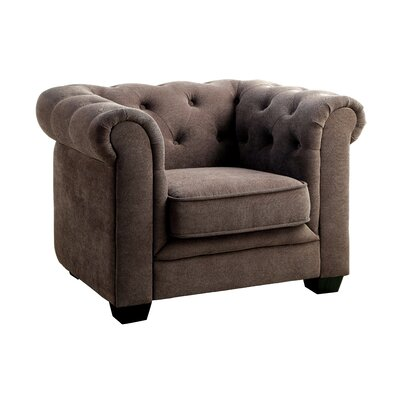 Brayden Tufted Youth Barrel Chair Color: Ash Brown