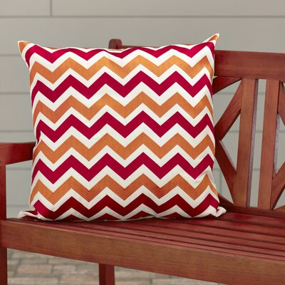Usher Raymond V Indoor/Outdoor Throw Pillow Color: Red / Orange