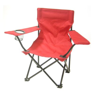 Pinedale Folding Kids Camping Chair with Cup Holder Color: Red VVRO2722 28235108