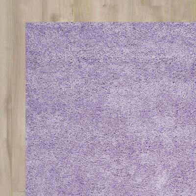 Ariel Lilac Shag Area Rug Rug Size: 86 x 12
