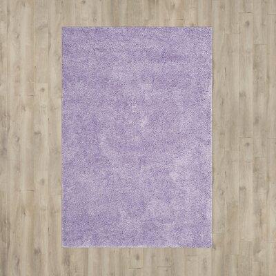 Ariel Lilac Shag Area Rug Rug Size: 67 x 96