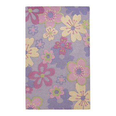 LeVar Hand-Tufted Pink/Purple Area Rug Rug Size: 9 x 12