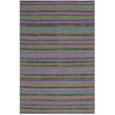 Sasser Hand-Woven Gray Area Rug Rug Size: Rectangle 8 x 10
