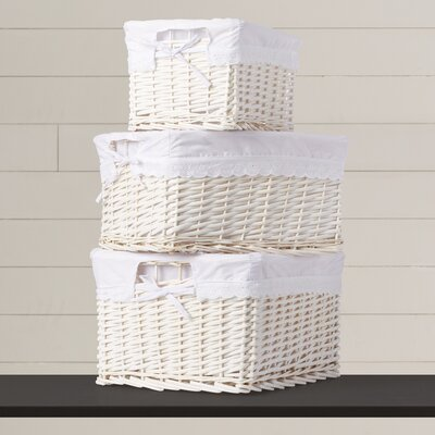 3 Piece Basket Set with Liners