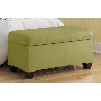 Vince Upholstered Polyester Premier Storage Ottoman Upholstery: Kiwi