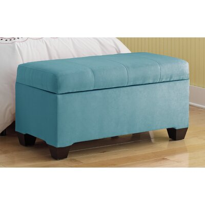 Vince Upholstered Polyester Premier Storage Ottoman Upholstery: Azure
