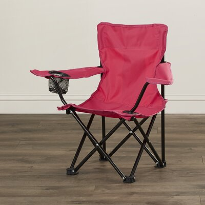 Pinedale Folding Kids Camping Chair with Cup Holder Color: Pink VVRO2722 28235109