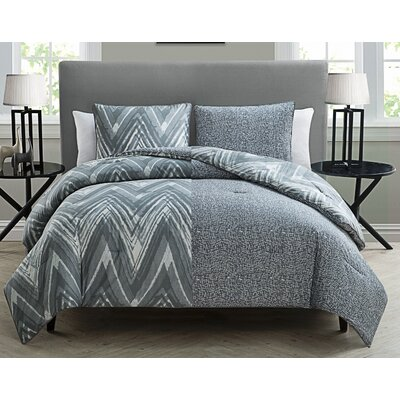 Lasker 3 Piece Reversible Comforter Set Size: Twin / Twin XL