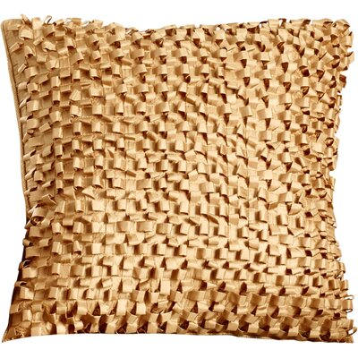 Raekwon Synthetic Throw Pillow Size: 18 H x 18 W, Color: Gold, Fill: Polyester