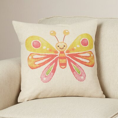 Clancy Butterfly Flower Throw Pillow