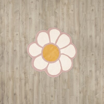 Upton Orange / Pink Area Rug Rug Size: Round 3