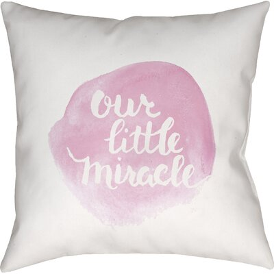 Gianna Indoor/Outdoor Throw Pillow Size: 20 H x 20 W x 4 D, Color: Pink