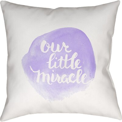 Gianna Indoor/Outdoor Throw Pillow Size: 18 H x 18 W x 4 D, Color: Purple