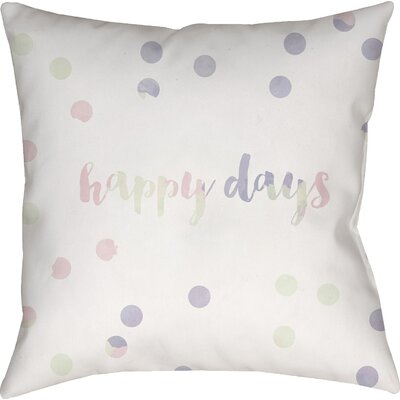 Gianna Indoor/Outdoor Throw Pillow Size: 18 H x 18 W x 4 D, Color: White/Purple