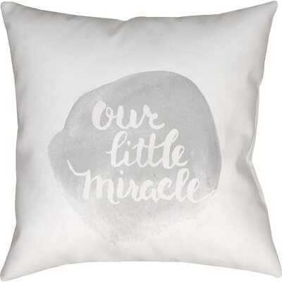 Gianna Indoor/Outdoor Throw Pillow Size: 18 H x 18 W x 4 D, Color: Gray