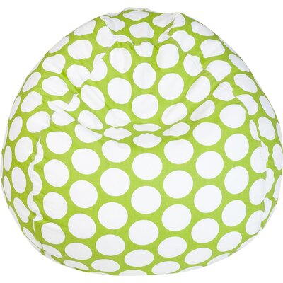 Telly Polka Dot Bean Bag Chair Upholstery: Hot Green Large