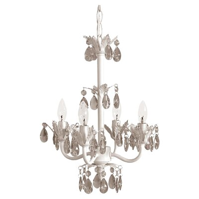 Senoia 4-Light Crystal Chandelier Crystal Color: Clear