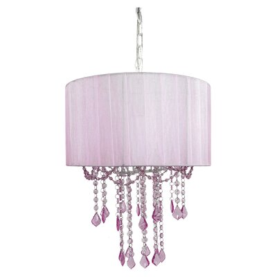 Caden 1-Light Drum Pendant Finish: Pink