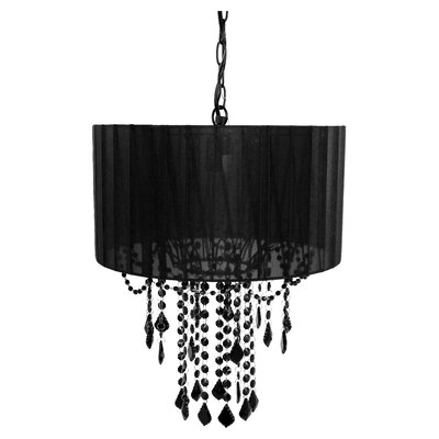 Caden 1-Light Drum Pendant Finish: Black